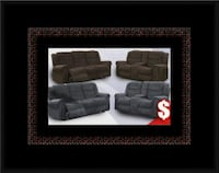 Grey or chocolate recliner set McLean