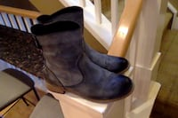 pair of Navy leather boots