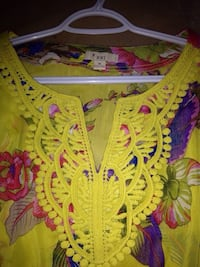 Yellow and pink floral textile Calgary, T3J 3A1