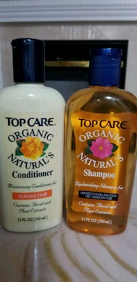 two $5 shampoo and conditioner bottles Brampton, L6S