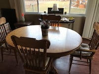 Wood Table with matching Hutch 375 mi