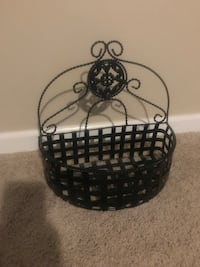 black metal framed glass candle holder Camby, 46113