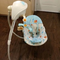 baby's white and gray portable swing Surrey, V3X 2L5