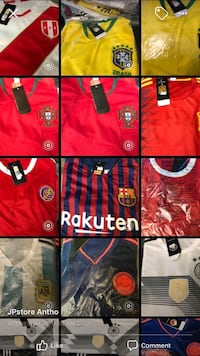 red and black Adidas jersey shirt Miami, 33131