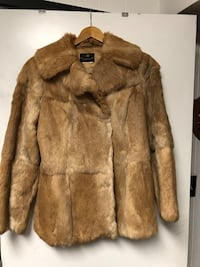 Caramel rabbit fur jacket sz M