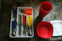 red and black spoon and fork set Knoxville, 37915