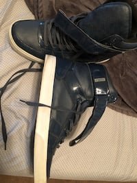 Navy blue Leather Radii hi-top shoes size 13 Shaker Heights, 44120