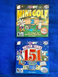 PC Computer games / Mini Golf  Master 2  / Master Series 151 Fantastic Games / New not opened  each game for $10 / Alexandria, 22311