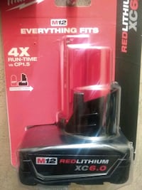 black and red Milwaukee power tool battery Moreno Valley, 92551