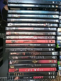DVD MOVIES- ALL HORROR FILMS.