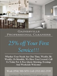 Gainesville Professional Cleaners Gainesville, 32608