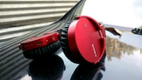 red and black corded headphones Dallas, 75240