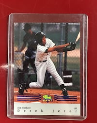 NY Yankee Legend Derek Jeter Draft Pick baseball card Alexandria, 22315