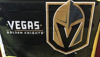 black and brown Vegas Golden Knights banner Las Vegas, 89103