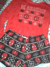 Spiderman Christmas PJ's Large 12-14 Virginia Beach, 23462