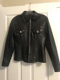 Fitted Leather Jacket - Size Small