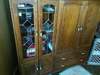 Solid wood Maple color entertainment center