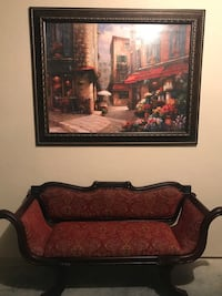 Gorgeous Antique Wood Settee And Huge Wall Art  Kissimmee, 34741