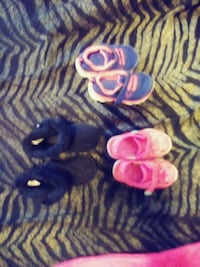 two pairs of pink and purple shoes Worcester, 01604