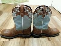 pair of brown-and-green leather cowboy boots Dryden, 24243