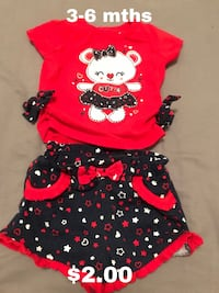 baby's red and black onesie Edinburg, 78541