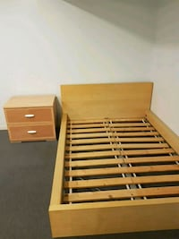 brown wooden slatted bed frame Richmond Hill, L4B 3H9
