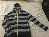 gray and black Neff striped zip-up hoodie Sonora, 95370