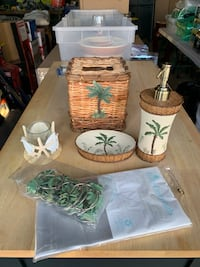 Palm tree Bathroom set Severn, 21144