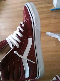unpaired red and white Vans high top sneaker Baltimore, 21223