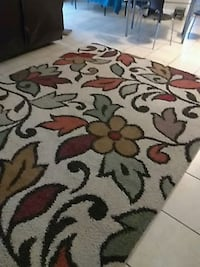 white, red, and black floral area rug Accokeek, 20607