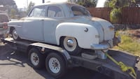 classic blue and white coupe with flatbed trailer Rancho Cucamonga, 91730
