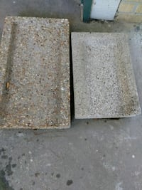 two brown and gray wooden boards