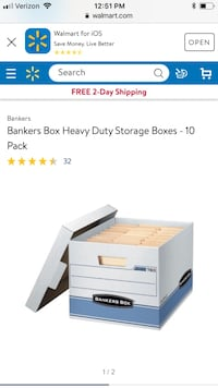 Heavy duty bankers box (5) Rochester, 14610