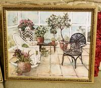 brown wooden framed painting of flowers Mission