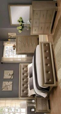 Champagne Queen Panel Bed Houston