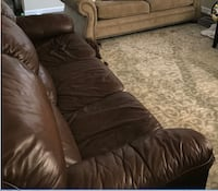 Large brown leather couch 3 seater - reclines Upper Marlboro, 20772
