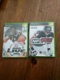 two Xbox 360 game cases Campbell