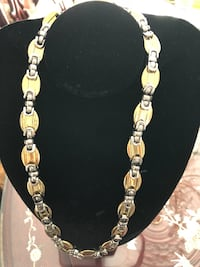 "18k Gold and  silver,   PVD plated chain 23"" long Mississauga, L5L 3G6"