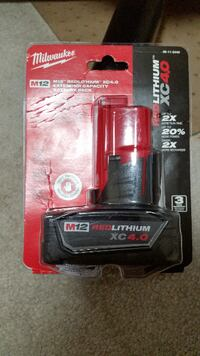 New Milwaukee M12 XC 4.0 Ah Extended Capacity lithium Battery  Burnaby