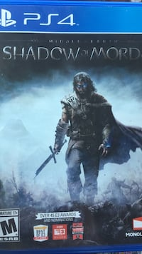 Shadow of Mord Sony PS4 game case