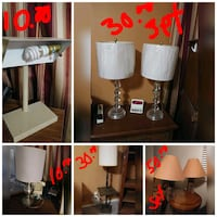 white and black table lamp collage Pharr, 78577