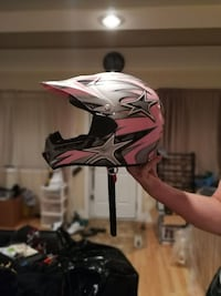 pink, black, and gray off-road motorcycle helmet Winnipeg, R2W 1N5