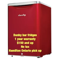 Fridge Danby bar  1 year warranty scratch and dent new in box Hamilton, L8W 3A1