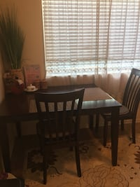 Brown Dining Table w/4 Chairs 36 km