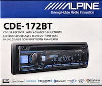 Alpine CDE-172BT Bluetooth Receiver In-Dash CD/AM/FM CAR STEREO  Gardena, 90249