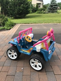 toddler's blue and pink ride on toy 33 km