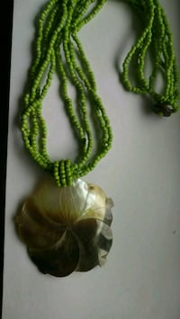 Vintage 1990's Shell & Bead Necklace Foley