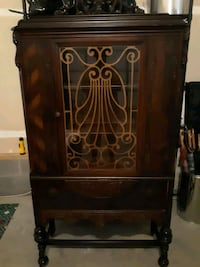 brown wooden cabinet with drawer 23224, 23224