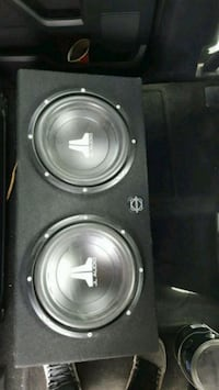 JL Audio subwoofer subs and amp
