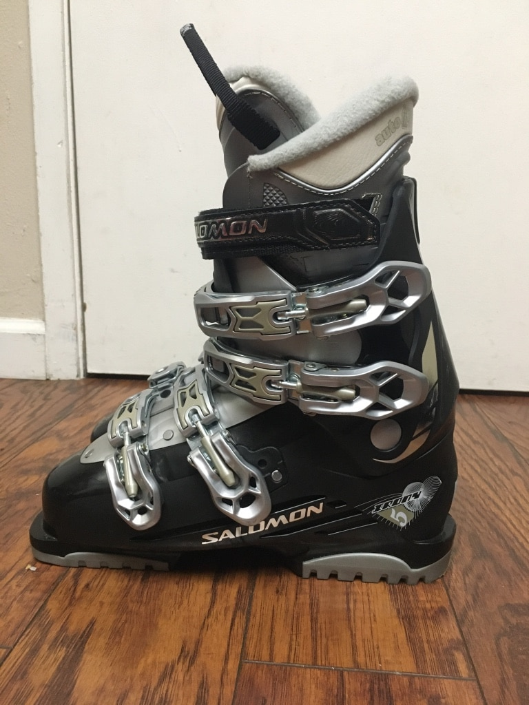 Used Salomon Performa T3 Red Teen Ski Boots Size 4 | #48316330